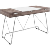 Modway Furniture Modern Metal and Wood Panel Office Writing Desk - Minimal & Modern - 1