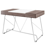 Modway Furniture Modern Metal and Wood Panel Office Writing Desk - Minimal & Modern - 3