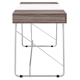 Modway Furniture Modern Metal and Wood Panel Office Writing Desk - Minimal & Modern - 4