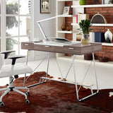 Modway Furniture Modern Metal and Wood Panel Office Writing Desk - Minimal & Modern - 5