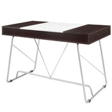 Modway Furniture Modern Metal and Wood Panel Office Writing Desk - Minimal & Modern - 8