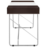 Modway Furniture Modern Metal and Wood Panel Office Writing Desk - Minimal & Modern - 9