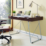 Modway Furniture Modern Metal and Wood Panel Office Writing Desk - Minimal & Modern - 10