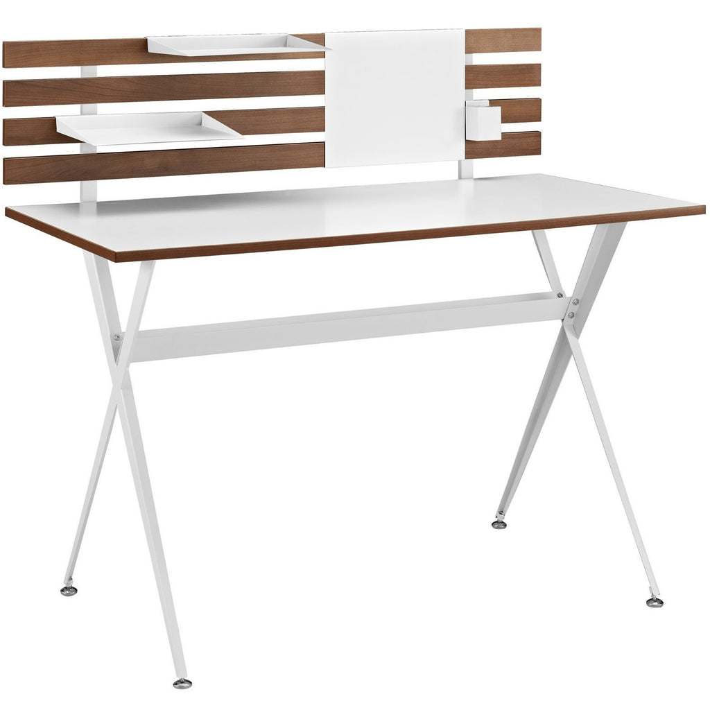 Modway Furniture Modern Knack Wood Office Small Writing
