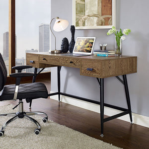 Modway Furniture Modern Surplus Office Desk in Walnut EEI-1328-WAL-KIT-Minimal & Modern