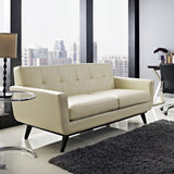 Modway Furniture Engage Bonded Leather Loveseat , Sofas - Modway Furniture, Minimal & Modern - 4
