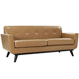 Modway Furniture Engage Bonded Leather Loveseat Tan, Sofas - Modway Furniture, Minimal & Modern - 5
