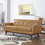 Modway Furniture Engage Bonded Leather Loveseat , Sofas - Modway Furniture, Minimal & Modern - 8