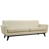 Modway Furniture Engage Bonded Leather Sofa Beige, Sofas - Modway Furniture, Minimal & Modern - 9