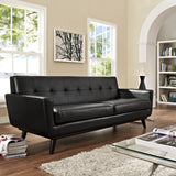 Modway Furniture Engage Bonded Leather Sofa , Sofas - Modway Furniture, Minimal & Modern - 4
