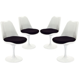 Modway Furniture Modern Lippa Dining Side Chair Fabric Set of 4 - EEI-1342-Minimal & Modern