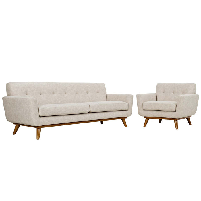 Modway Furniture Modern Engage Armchair and Sofa Set of 2 - EEI-1344 - Minimal and Modern