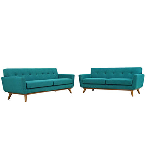 Modway Furniture Modern Engage Loveseat and Sofa Set of 2 - Minimal and Modern