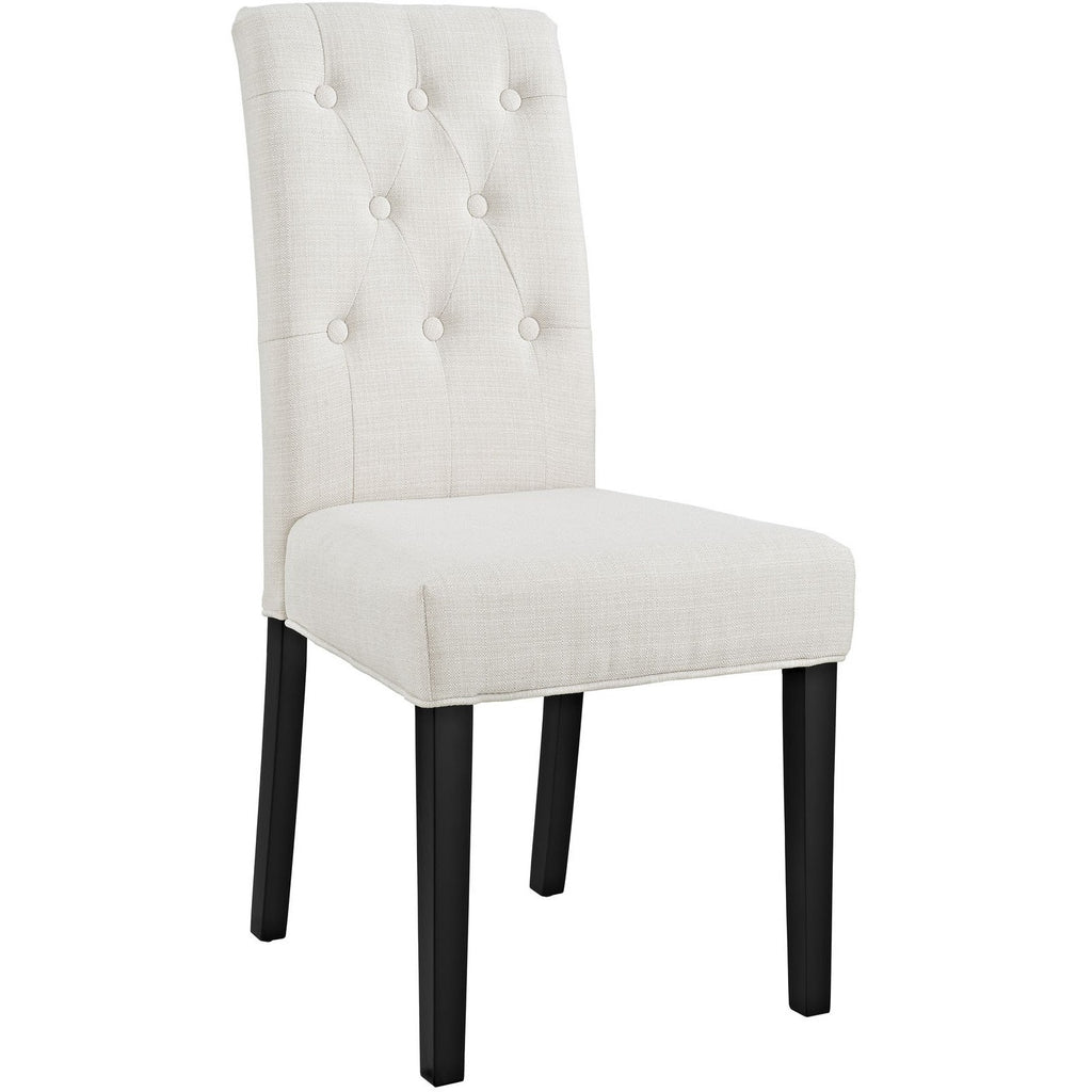 Modway Furniture Confer Modern Dining Fabric Side Chair Beige, Dining Chairs - Modway Furniture, Minimal & Modern - 1