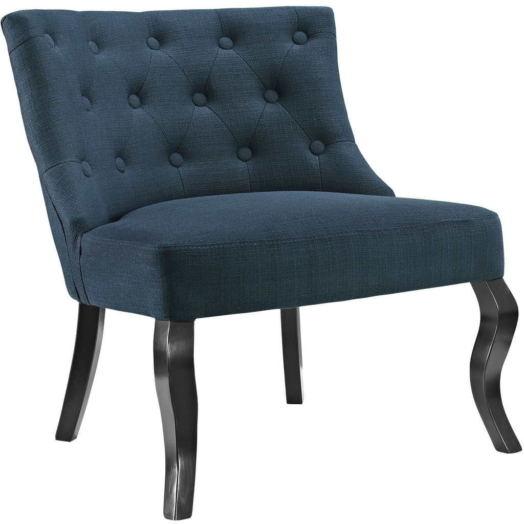 Modway Furniture Royal Fabric Armchair Azure, Chairs - Modway Furniture, Minimal & Modern - 1