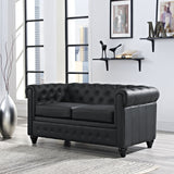 Modway Furniture Earl Vinyl Loveseat , Loveseat - Modway Furniture, Minimal & Modern - 12