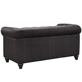 Modway Furniture Earl Vinyl Loveseat , Loveseat - Modway Furniture, Minimal & Modern - 7
