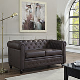 Modway Furniture Earl Vinyl Loveseat , Loveseat - Modway Furniture, Minimal & Modern - 8