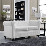 Modway Furniture Earl Vinyl Loveseat , Loveseat - Modway Furniture, Minimal & Modern - 4