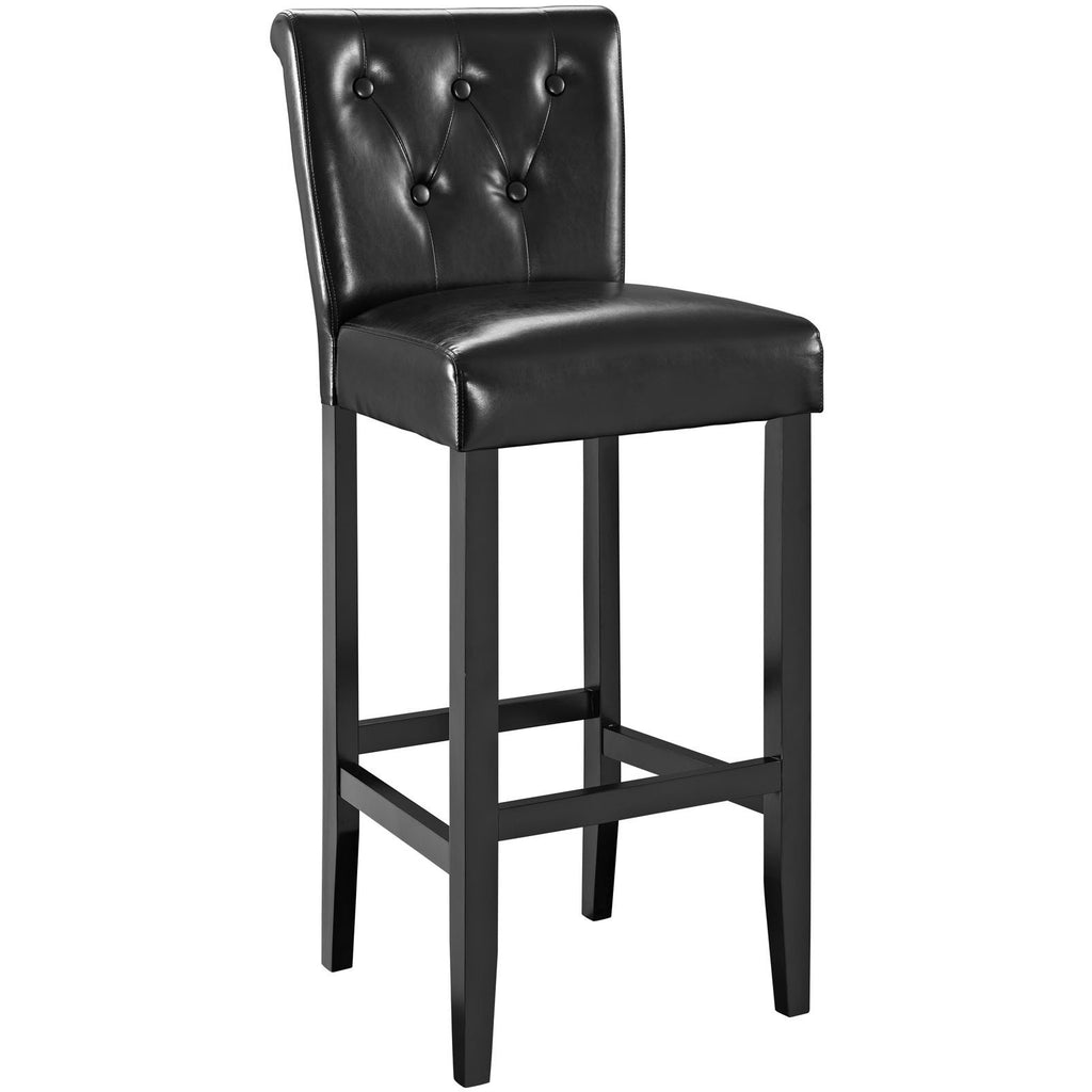 Modway Furniture Tender Modern Bar Stool Black, Bar Stools - Modway Furniture, Minimal & Modern - 1