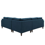 Modway Furniture Empress 3 Piece Fabric Sectional Sofa Set , Sofas - Modway Furniture, Minimal & Modern - 3