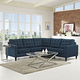 Modway Furniture Empress 3 Piece Fabric Sectional Sofa Set , Sofas - Modway Furniture, Minimal & Modern - 4