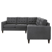 Modway Furniture Empress 3 Piece Fabric Sectional Sofa Set EEI-1417-Minimal & Modern
