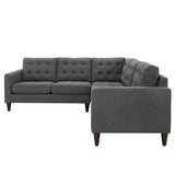Modway Furniture Empress 3 Piece Fabric Sectional Sofa Set , Sofas - Modway Furniture, Minimal & Modern - 6