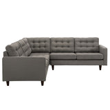 Modway Furniture Empress 3 Piece Fabric Sectional Sofa Set , Sofas - Modway Furniture, Minimal & Modern - 10