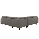 Modway Furniture Empress 3 Piece Fabric Sectional Sofa Set , Sofas - Modway Furniture, Minimal & Modern - 11