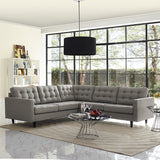 Modway Furniture Empress 3 Piece Fabric Sectional Sofa Set , Sofas - Modway Furniture, Minimal & Modern - 12