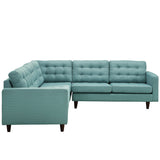 Modway Furniture Empress 3 Piece Fabric Sectional Sofa Set , Sofas - Modway Furniture, Minimal & Modern - 14