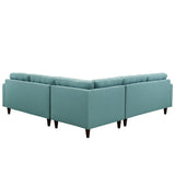 Modway Furniture Empress 3 Piece Fabric Sectional Sofa Set , Sofas - Modway Furniture, Minimal & Modern - 15