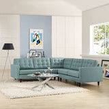 Modway Furniture Empress 3 Piece Fabric Sectional Sofa Set , Sofas - Modway Furniture, Minimal & Modern - 16