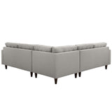 Modway Furniture Empress 3 Piece Fabric Sectional Sofa Set , Sofas - Modway Furniture, Minimal & Modern - 19