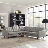 Modway Furniture Empress 3 Piece Fabric Sectional Sofa Set , Sofas - Modway Furniture, Minimal & Modern - 20