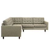 Modway Furniture Empress 3 Piece Fabric Sectional Sofa Set , Sofas - Modway Furniture, Minimal & Modern - 22