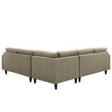 Modway Furniture Empress 3 Piece Fabric Sectional Sofa Set , Sofas - Modway Furniture, Minimal & Modern - 23