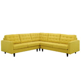 Modway Furniture Empress 3 Piece Fabric Sectional Sofa Set Sunny, Sofas - Modway Furniture, Minimal & Modern - 25