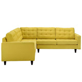 Modway Furniture Empress 3 Piece Fabric Sectional Sofa Set , Sofas - Modway Furniture, Minimal & Modern - 26