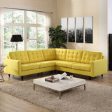 Modway Furniture Empress 3 Piece Fabric Sectional Sofa Set , Sofas - Modway Furniture, Minimal & Modern - 28
