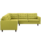 Modway Furniture Empress 3 Piece Fabric Sectional Sofa Set , Sofas - Modway Furniture, Minimal & Modern - 30