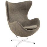 Modway Furniture Modern Glove Wool Lounge Chair Oatmeal, Chairs - Modway Furniture, Minimal & Modern - 15