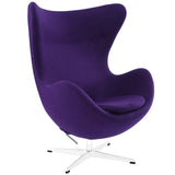 Modway Furniture Modern Glove Wool Lounge Chair Purple, Chairs - Modway Furniture, Minimal & Modern - 6
