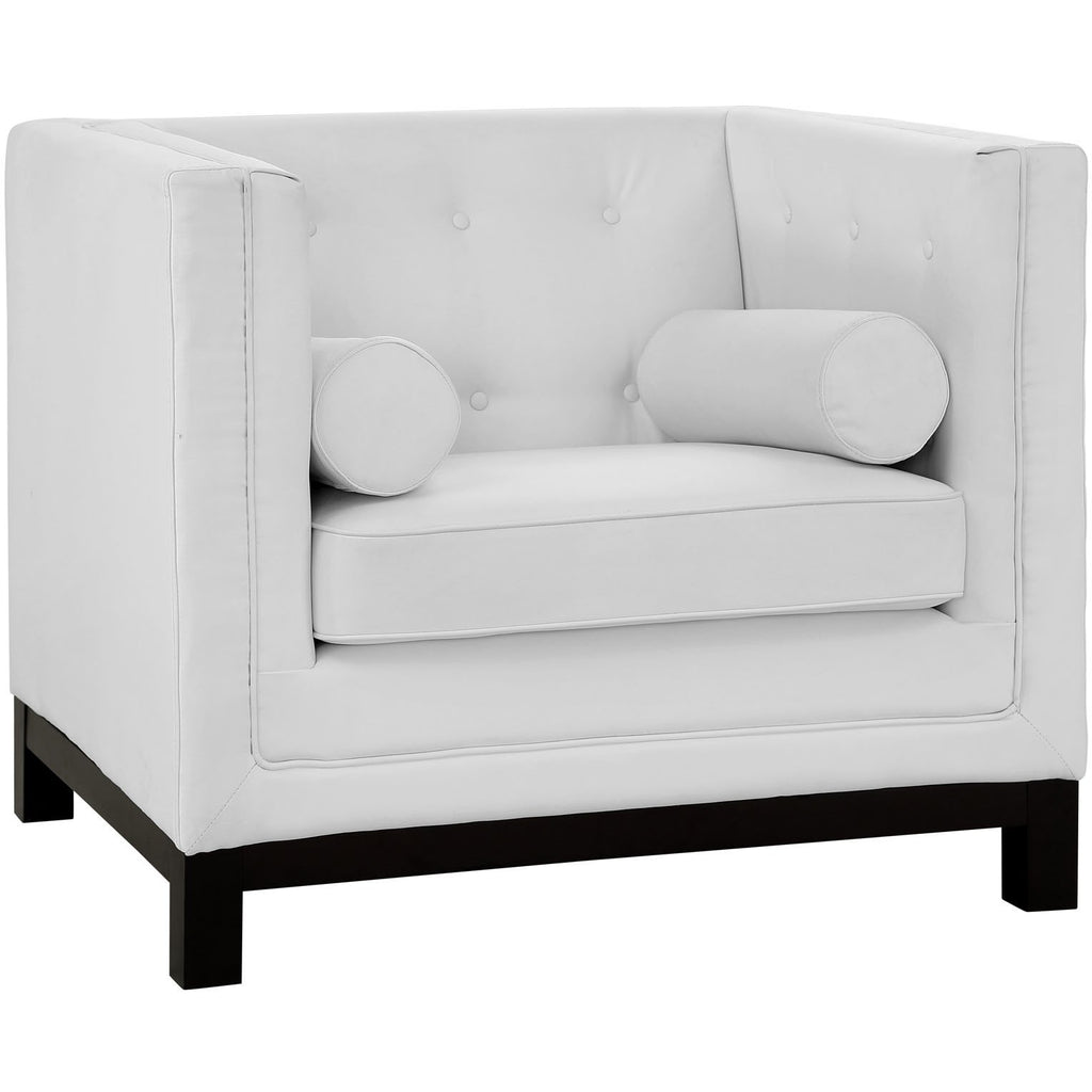 Modway Furniture Imperial Armchair White, Armchair - Modway Furniture, Minimal & Modern - 1