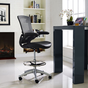 Modway Modern Attainment Vinyl Adjustable Computer Office Chair EEI-1422-Minimal & Modern