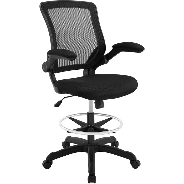 Modway Modern Veer Drafting Stool Adjustable Computer Office Chair - Minimal & Modern - 1