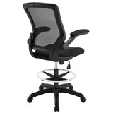 Modway Modern Veer Drafting Stool Adjustable Computer Office Chair - Minimal & Modern - 3