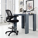 Modway Modern Veer Drafting Stool Adjustable Computer Office Chair - Minimal & Modern - 4