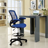 Modway Modern Veer Drafting Stool Adjustable Computer Office Chair - Minimal & Modern - 16